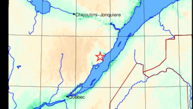 L'épicentre du séisme se situe à environ 130 km au nord-est de Québec.