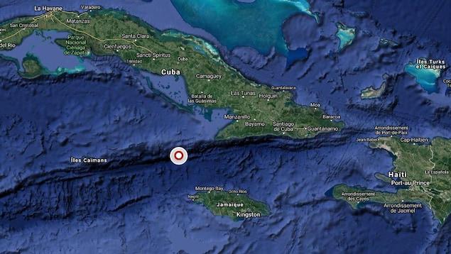 L'épicentre du séisme est situé entre Cuba et la Jamaïque.