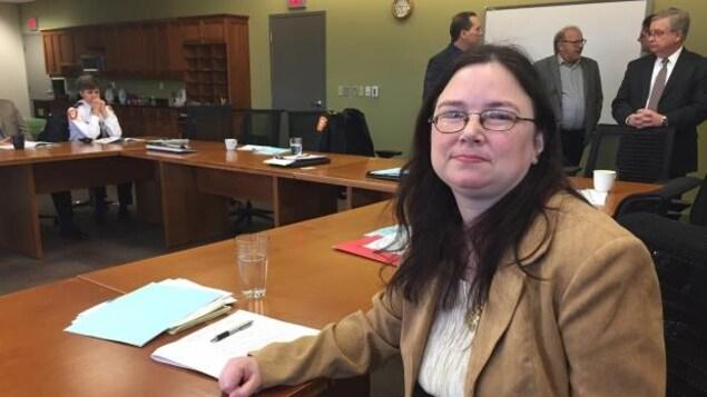 Serenity Perry de la Première Nation Fort William est membre non votant à la Commission des services policiers de Thunder Bay.
