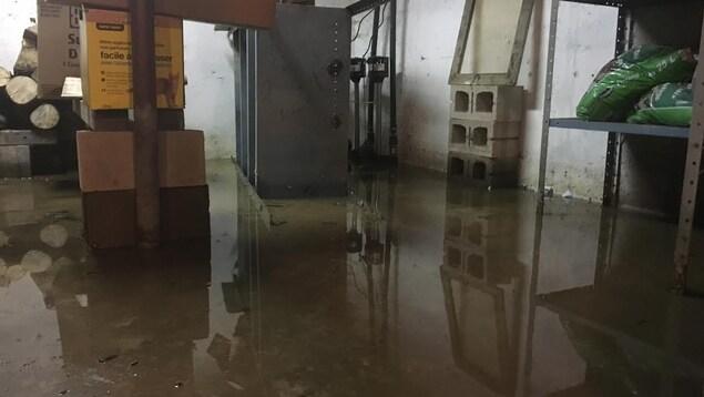 Un sous-sol inondé