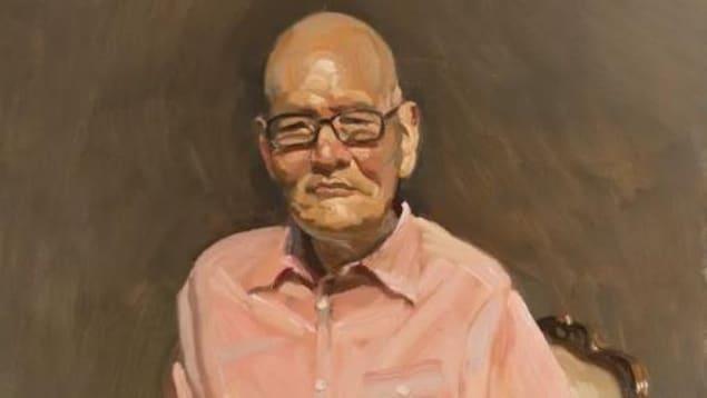 著名画家陈丹青笔下的郑胜天教授。(2013)