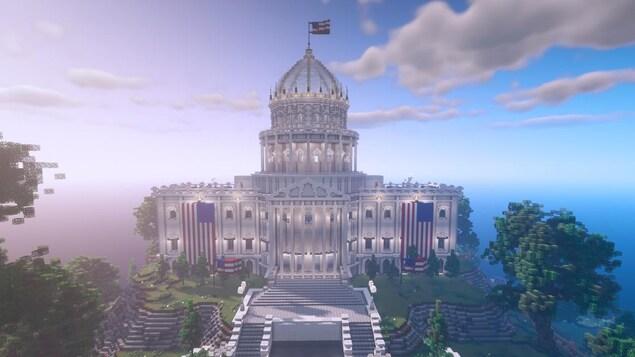 Un édifice qui ressemble à un hybride entre la Maison-Blanche et le Capitole.