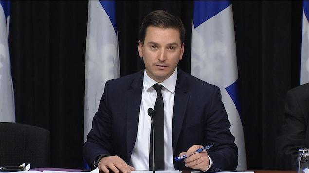 Le ministre de l'Immigration du Québec, Simon Jolin-Barrette