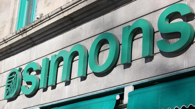 Devanture du magasin Simons dans le Vieux-Québec.
