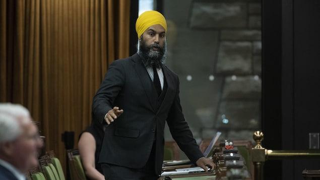 Jagmeet Singh se lève en Chambre.