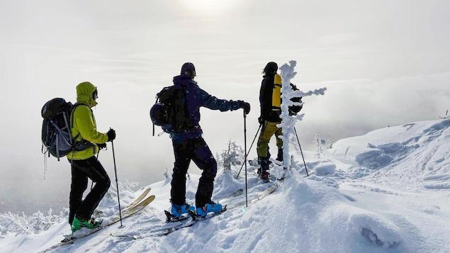 Alexandre Lacroix, de Safran Clerson et Jack Faber en montagne