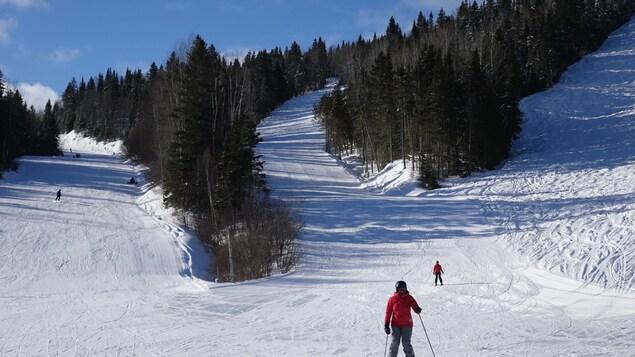 Des skieurs