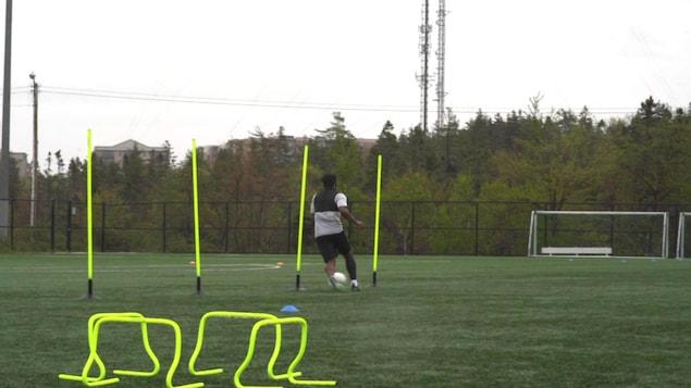 Un entraînement de soccer.