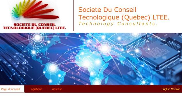 Capture d'écran du site de Société du conseil technologique