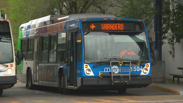 Un autobus de la STS affiche la destination de Varadero.