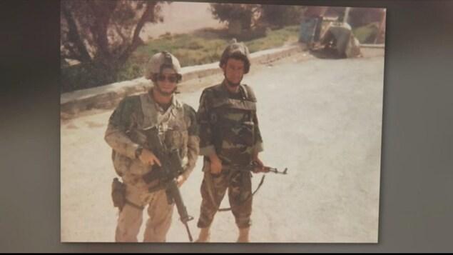 Léo Bertrand a été au sein des Forces armées canadienne pendant plus de 10 ans.