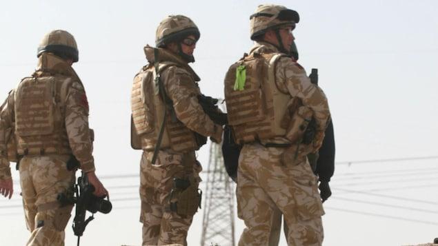 Des soldats britanniques en Irak.