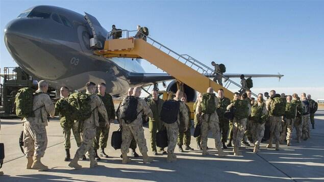 Des soldats de l'armée canadienne en Irak
