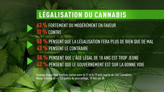 Sondage Angus Reid sur la légalisation de la marijuana