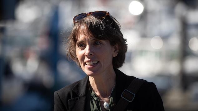 Sonia Furstenau pendant la campagne à Vancouver le 28 septembre 2020.