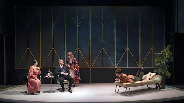 Scène de la pièce The Thin Man