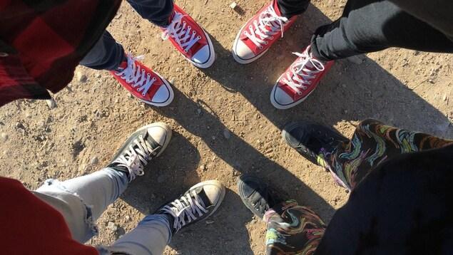 Les souliers d'adolescents