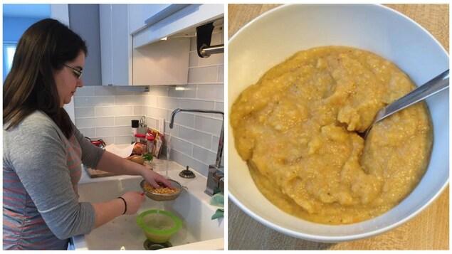 La soupe aux pois végétalienne