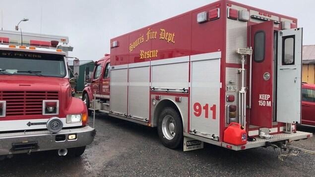 Un camion des pompiers de la municipalité de Souris