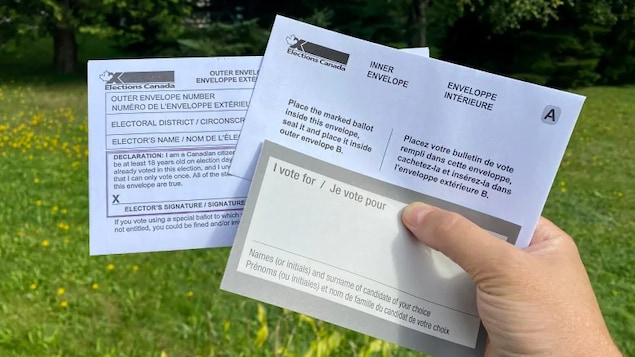 People voting by mail will receive a special ballot voting kit, on which they have to write in the name of their chosen candidate.