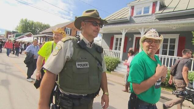 Policier de la SQ lors du Festival western de Saint-Tite, le 8 septembre 2017