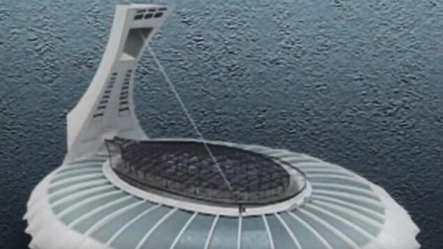 Illustration montrant le toit fixe en acier.