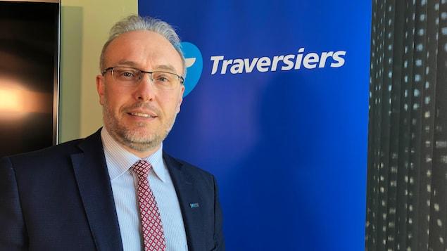 Gros plan du président-directeur général de la Société des traversiers du Québec.