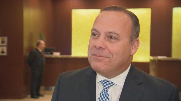 Le directeur général du Marriott d'Ottawa, Stéphane Pelletier.