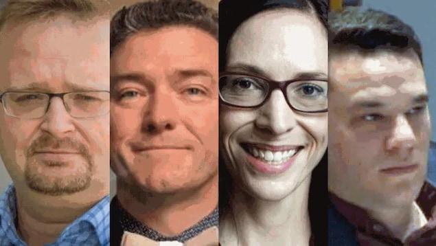 Montage photo des quatre conseillers municipaux.