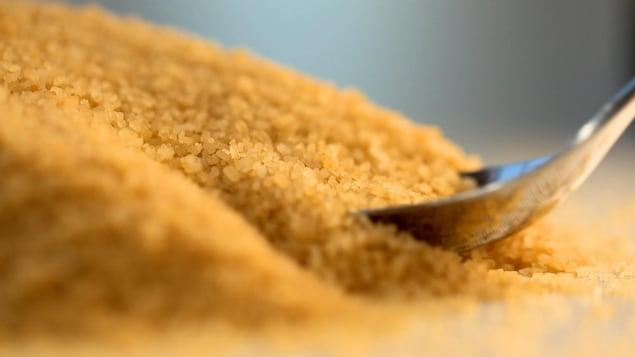 Un tas de sucre brut