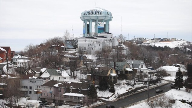 Le centre-ville du Grand Sudbury en Ontario.