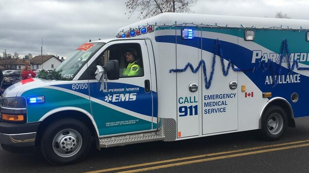 Une ambulance de Superior North EMS.