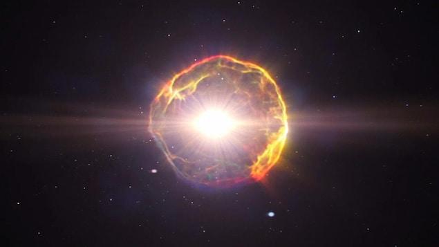 Impression artistique d'une supernova.