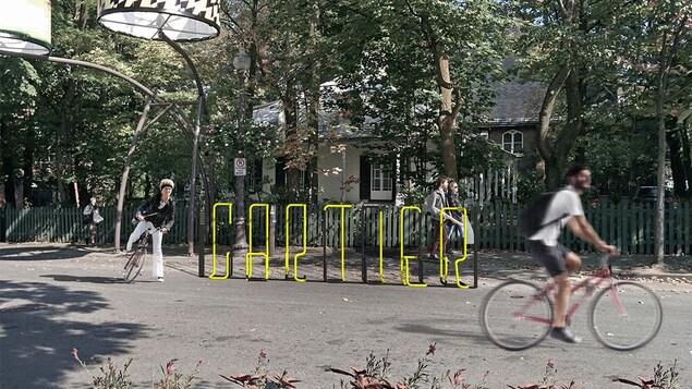 Le support à vélo «abcyclette!» du consortium Hatem + D Architecture - Étienne Bernier architecte