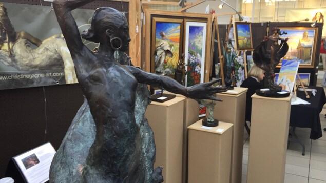 Une sculpture exposée au Symposium des arts de Drummondville