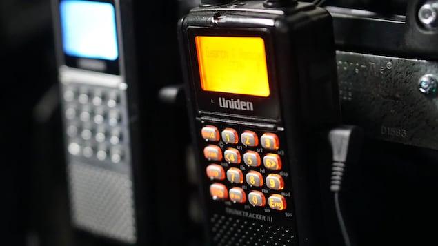 Un système de communication radio allumé.
