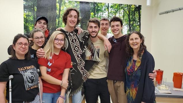 Les participants au voyage en Équateur du Département de technologie forestière du Cégep de Rimouski.