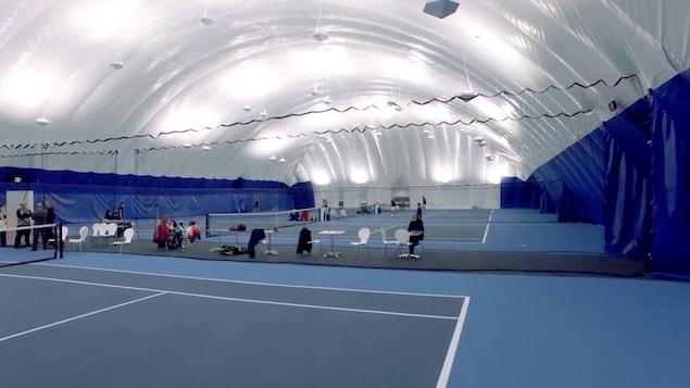 Deux dômes, comme celui-ci, seront installés à St-Augustin-de-Desmaures et abriteront six terrains de tennis.