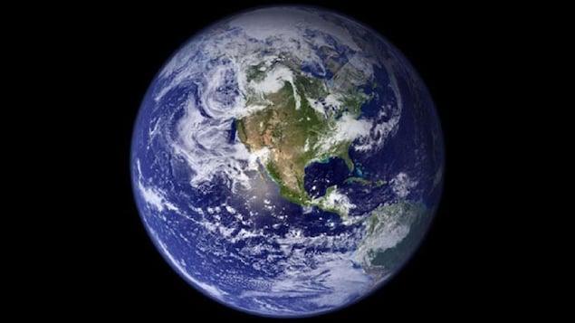 La planète bleue vue de l'espace.