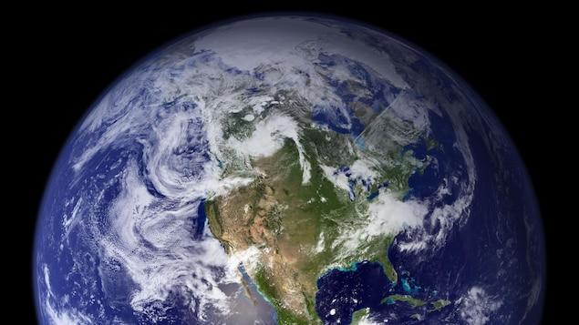 L'Amérique du Nord vue de l'espace.