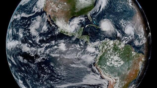 Une image captée par le satellite GOES-16.