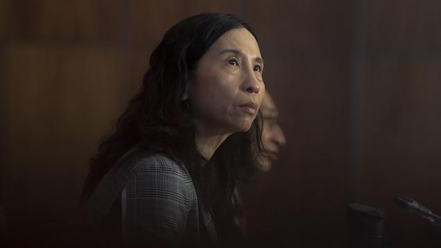 Theresa Tam en conférence de presse.