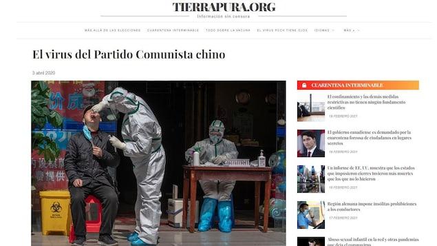 Capture d'écran de l'article. Une photo d'un homme passant un test dépistage le coiffe.