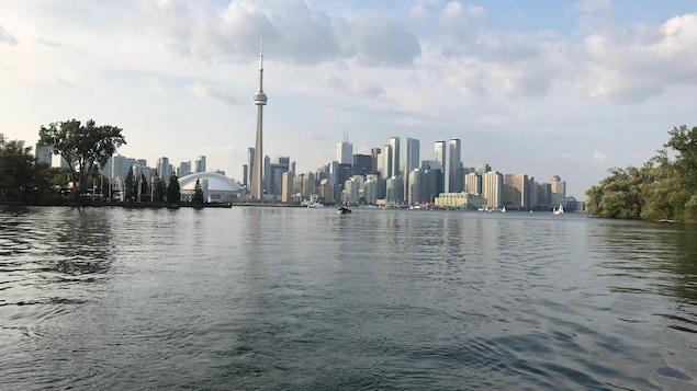 Toronto vue des îles, tour CN.