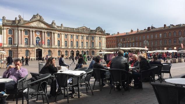 La place du Capitole, à Toulouse