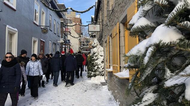 Magie de Noël à Québec.