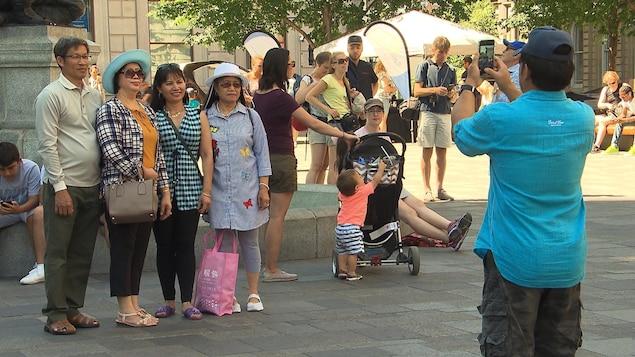 Des touristes à Montréal