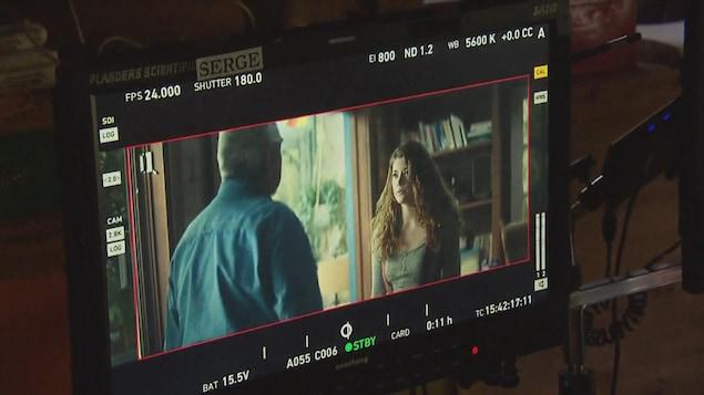Capture d'écran d'une scène de film en tournage