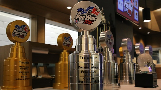 Les trophées du Tournoi international de hockey pee-wee de Québec