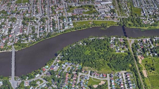 Carte île de Laval, rivière des Mille Îles et Rive Nord